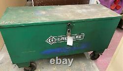 GREEN-LEE 884 Hydraulic Bender With Rolling Storage Box On Casters