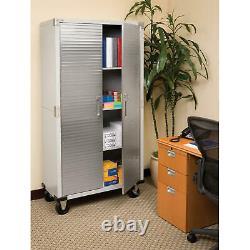 Garage Metal Rolling Tool File Storage Cabinet Shelving Stainless Steel NEW