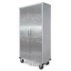 Garage Rolling Tall Storage UltraHD Steel Heavy-Duty Cabinet Tool Box Lock Doors