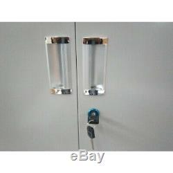 Garage Rolling Tool Storage Cabinet Tall Metal Stainless Steel Doors Shelving US