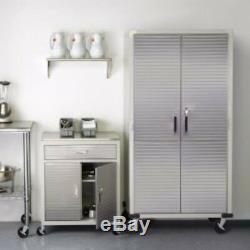 Garage Steel Rolling Tool Storage Cabinet Shelving Stainless Steel Doors Tools