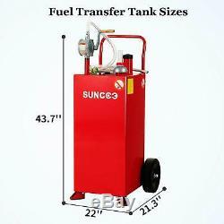 Gas Caddy Tank with Rolling Wheels Fuel Storage Gasoline Diesel Fluid 30 Gallon