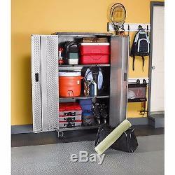 Gladiator Garage Silver Tread Steel Rolling Safe Tool Storage Organizer Cabinet