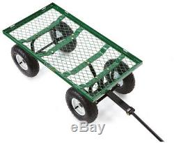 Gorilla Carts Rolling Utility Cart Storage Yard Garden Outdoor 400 Lb Steel Mesh
