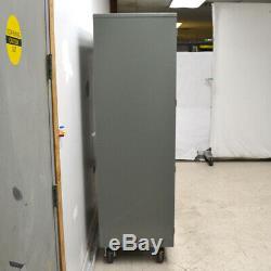 Gray 48 x 24 x 72 2-Door 4-Adjustable Shelves Steel Rolling Storage Cabinet