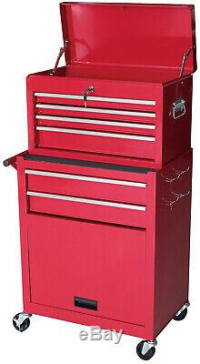 Gstandard 2-Pc. Rolling Tool Storage Chest Red