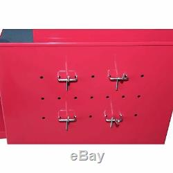 Gstandard 2 Piece Rolling Tool Storage 6 Drawer Cabinet Combo Chest Red, NEW