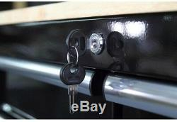 HUSKY 3 Drawer Rolling Tool Cart Wood Top Storage Mobile Work Center Steel Black