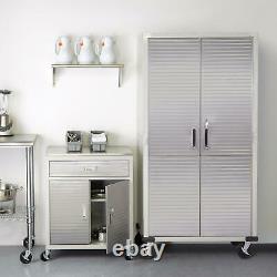 Heavy Duty 72 Tall Metal Storage Rolling File Tool Cabinet Locking Doors