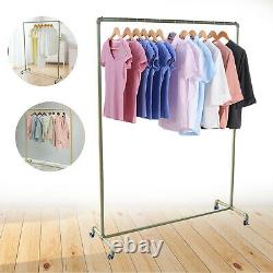 Heavy Duty Commercial Garment Rack Rolling Clothing Shelf Retail Store with Wheels