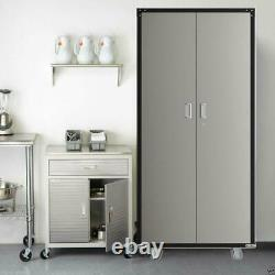 Heavy Duty Garage Rolling Tool Storage Cabinet Shelving Doors Easy to move New