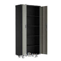 Heavy Duty Garage Rolling Tool Storage Office Cabinet Shelving Doors with Lock