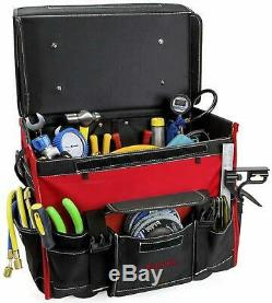 Heavy Duty Mobile Rolling Tool Bag On Wheels With Pockets Case Storage Brand New