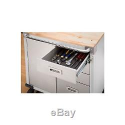 Heavy Duty Rolling Cabinet 4 Drawer Door Stainless Steel Garage Tool Storage HD