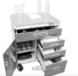 Heavy Duty Rolling Garage Cabinet Drawers Door Stainless Steel Tool Storage Shop