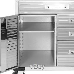 Heavy Duty Rolling Garage Cabinet Drawers Door Stainless Steel Tool Storage Shop