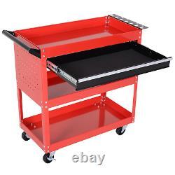 Heavy Duty Rolling Tool Storage Cart Metal Chest Garage Trolley Organizer Drawer