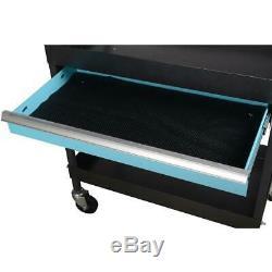 Heavy Duty Rolling Utility Tool Cart Mechanic Garage Shop Tool Storage In Black