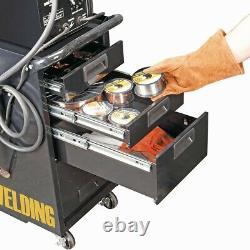 Heavy Duty Welding Machine Cart Cabinet Drawers Wheels Push Rolling Tool Storage