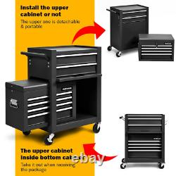 High Capacity 6-Drawer Rolling Tool Chest Storage Cabinet Toolbox Combo with Riser