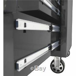 Homak 27in Pro II 7-Drawer Rolling Tool Cabinet 9115 Cu In of Storage 27inW Blk