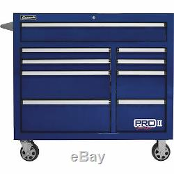 Homak 41in Pro II 9-Drawer Rolling Tool Cabinet 18,008 Cu In of Storage 41inW