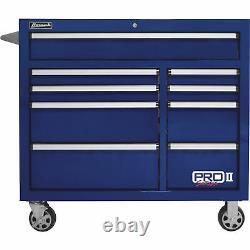 Homak 41in Pro II 9-Drawer Rolling Tool Cabinet 18,008 Cu In of Storage 41inW