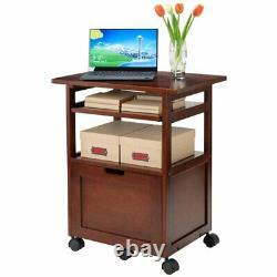 Home Office Filing Cabinet Rolling Printer Cart Stand Laptop Desk Drawer Storage