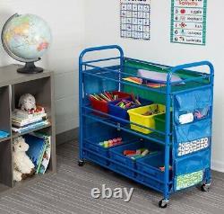Home Organizer School Supplies Portable Activity Art Rolling Cart Storage Kit