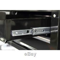 Husky 36 Rolling Tool Cart Versatile Storage 3 Drawer Gloss Black Hardwood Top