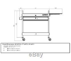 Husky Mobile Rolling Tool Cart Metal Utility Chest Drawer Box Storage Organizer