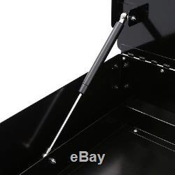 Husky Utility Cart Tool Storage Rolling 2-Drawer Push Handle 28 in. Black Steel