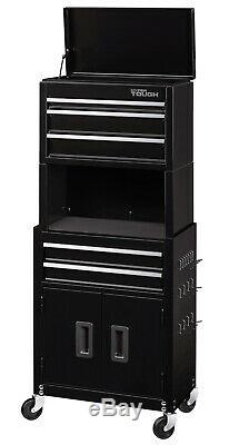 Hyper Tough Steel Ball-Bearing 5drawer Slides Rolling Tool Chest Cabinet Storage