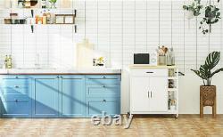 Kitchen Bar & Serving Cart Rolling Storage Cart Kitchen Island Cart Storage