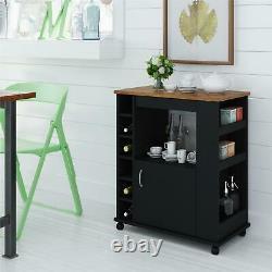 Kitchen Cart Rolling Storage Portable Liquor Wine Bar Microwave Trolley Rack NEW