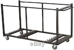 Lifetime Heavy Duty Table Storage Rolling Cart Durable Powder Coated Steel New