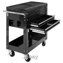Mechanics Tool Cart Slide Top Storage Rolling Cabinet Organizer Drawer Tray Box