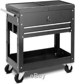 Mechanics Tool Cart Slide Top Utility Garage Storage Rolling Cabinet Organizer