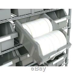 Member's Mark 22-Bin Rack with Rolling Wheels Casters Garage Storage Shelving