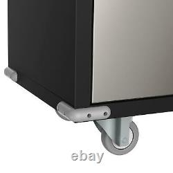 Metal Rolling Garage Tool File Storage Cabinet Box Shelving Doors with 4 shelves