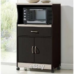 Microwave Carts With Storage Mobile Rolling Mini Pantry Cabinet Appliance Island