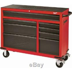 Milwaukee Tool Chest Rolling Cabinet Set 46 in. 16-Drawer Wheel Locks Steel Red