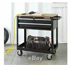 Mobile Rolling 3-Drawer Tool Box Workstation Table Chest Cart Storage Organizer