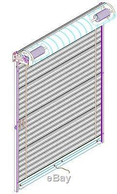 Model 650 10' x 10' Light Duty Rolling Self Storage Steel Roll-Up White Door