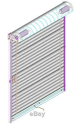 Model 650 8' x 8' Light Duty Rolling Self Storage Steel Roll-Up White Door