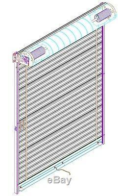 Model 650 9' x 7'4 Light Duty Rolling Self Storage Steel Roll-Up White Door