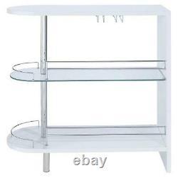 Modern Home Bar Storage Table Glass Wine Liquor Shelf Rack Glossy Server Cabinet