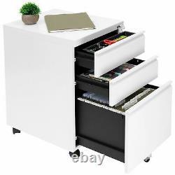 Mount-It! Rolling Three Drawer Cabinet Storage Cabinet