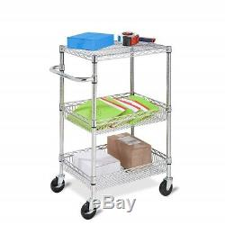 NEW Small Laptop Printer Cart Rolling Computer Table Stand Media Storage Office