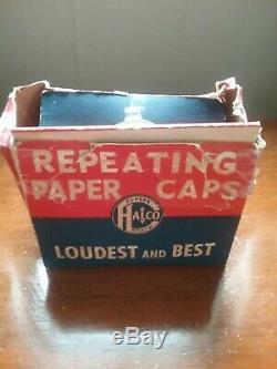 NOS Halco Super Brand Repeating Roll Caps 31 Boxes of 250 In Original Store Box